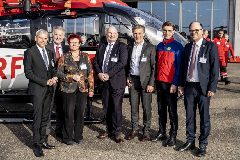 v.l.n.r: Dr. Patrick Rapp; Bernhard Rotzinger; Gabi Rolland; Dr. Peter Huber; Michael Broglin; Adrian Probst; Prof. Dr. Michael Müller