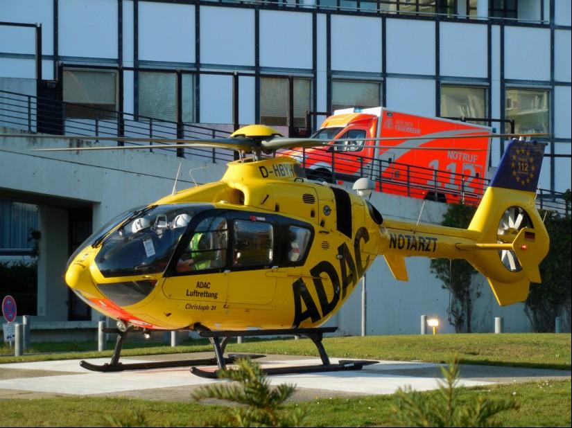Christoph 31, hier ein Archivbild von einer Landung an einem Berliner Krankenhaus