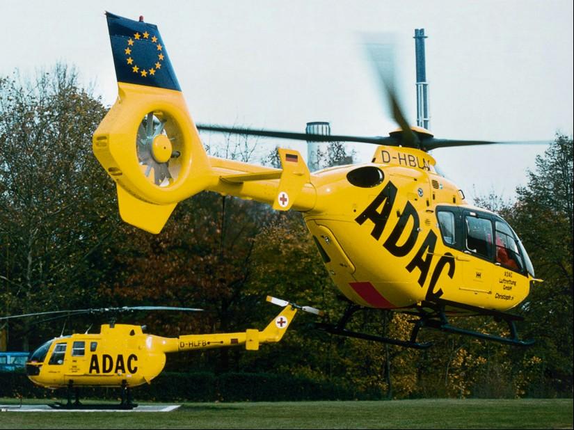 Die erste Maschine vom Typ EC135 wird in die Flotte des ADAC aufgenommen