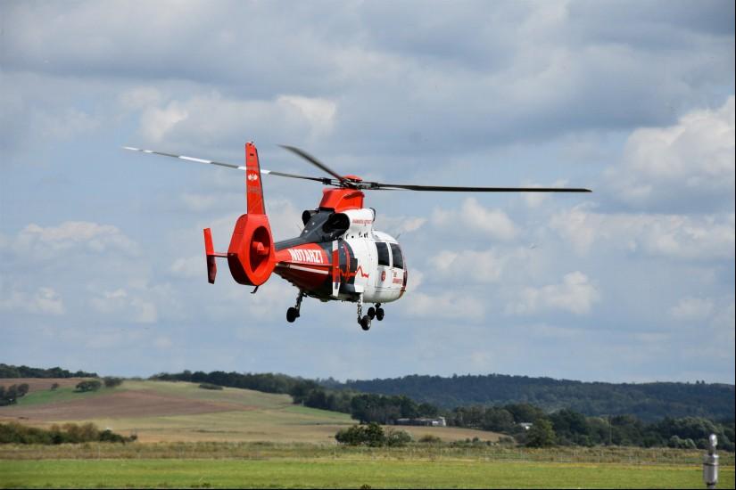 """Insgesamt wurden die Hubschrauber der Luftrettung in Frankfurt, Fulda, Gießen und Kassel 2019 zu 5.344 Einsätzen alarmiert (hier zu sehen der ITH """"Christoph Mittelhessen"""" der JLR)"""