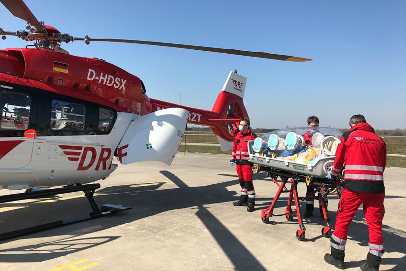 """Einsatz der """"EpiShuttle"""" an dem am Flughafen Karlsruhe/Baden-Baden in Dienst gestellten ITH """"Civil Air Ambulance"""""""