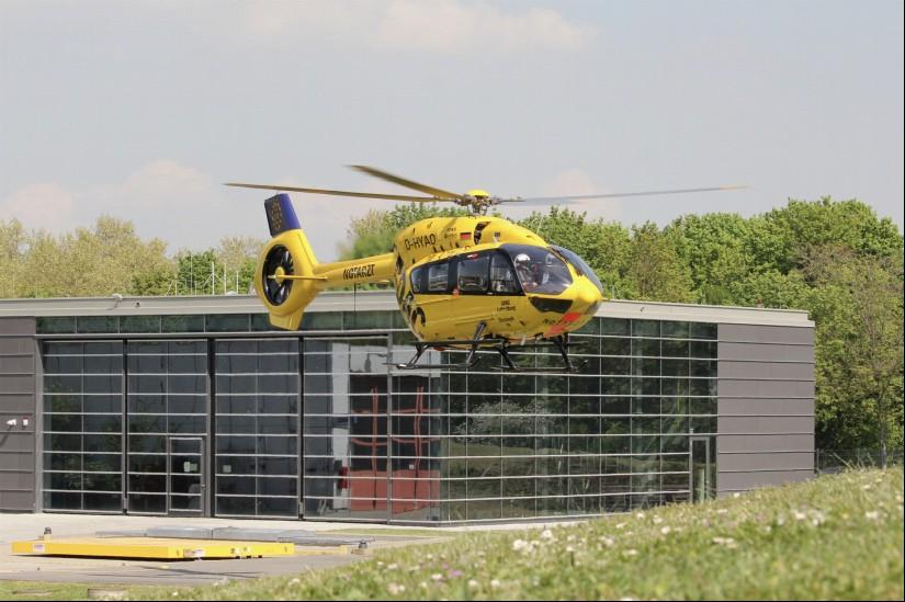 Christoph 66 aus Eßweiler, der später am 17.4. zu Gast an der BGU war, ist von der Maschine her baugleich zu Christoph 112. So hat das Bundesland aktuell eine sehr hohe Dichte an Luftrettungsmitteln