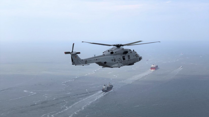 Bereits Anfang Juni fanden die ersten Flüge des künftigen SAR-Hubschraubers der Deutschen Marine über See statt
