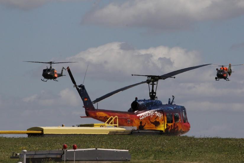 Abschiedsrunde der Bell UH-1D als RESCUE 63