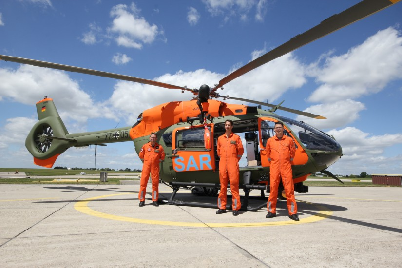 Stolz: Die Crews, die jetzt in Niederstetten mit der H145 ausrücken