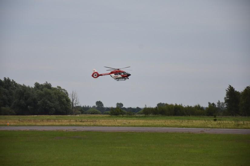 Am Samstag (25.07.2020) landete – aus Hannover kommend – auch noch die D-HILF in Schachtholm ...