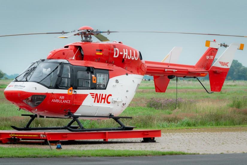 NHC Northern HeliCopter setzt die BK 117 als Ambulanzhubschrauber im Nordwesten Niedersachsens ein