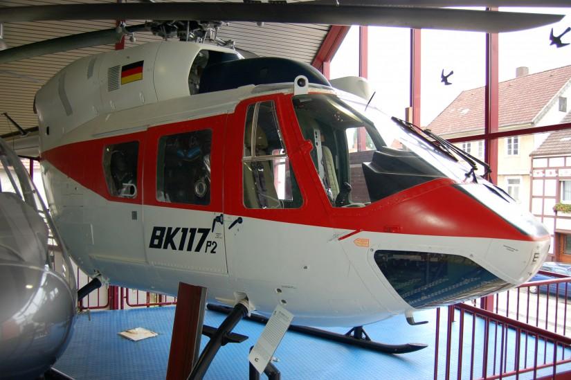 Der Prototyp 2 (P2) der BK 117 befindet sich heute im Hubschraubermuseum in Bückeburg (Niedersachsen)
