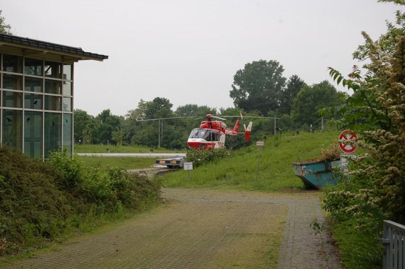 """Im Oktober 2013 flog in Karlsruhe noch eine BK 117 als """"Christoph 43"""""""