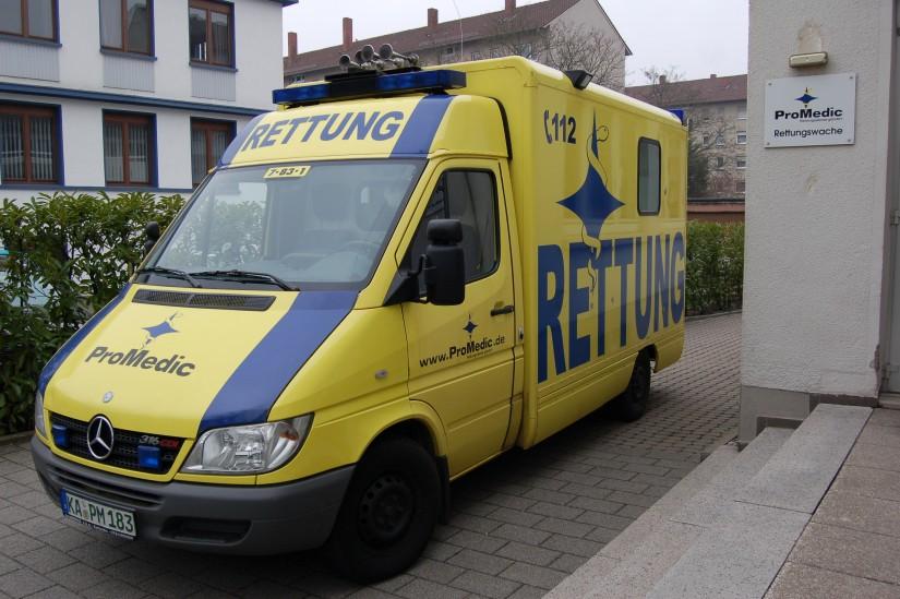 Bereits im Jahr 2011 war auf der Rettungswache 7 von ProMedic ein RTW mit Strobel-Koffer stationiert