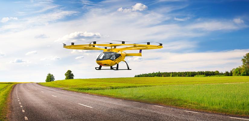 Ab 2023 soll bereits ein Probebetrieb der Multikopter in den Modellregionen Bayern und Rheinland-Pfalz starten (Fotomontage).