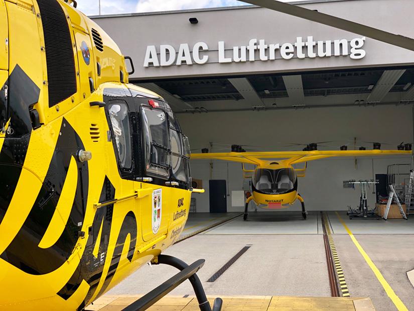 Kein Ersatz, sondern eine Ergänzung für den RTH: Die Multicopter als möglicher, schneller Notarztzubringer (Fotomontage).
