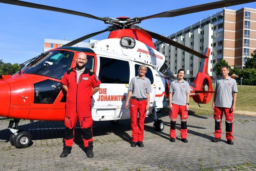 Am Klinikum Südstadt Rostock bleibt auch weiterhin ein ITH der Johanniter Luftrettung stationiert
