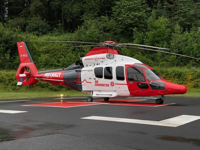 Im Jahr 2020 hoben die hessischen Rettungs- und Intensivtransporthubschrauber zu 5.044 Einsätzen ab