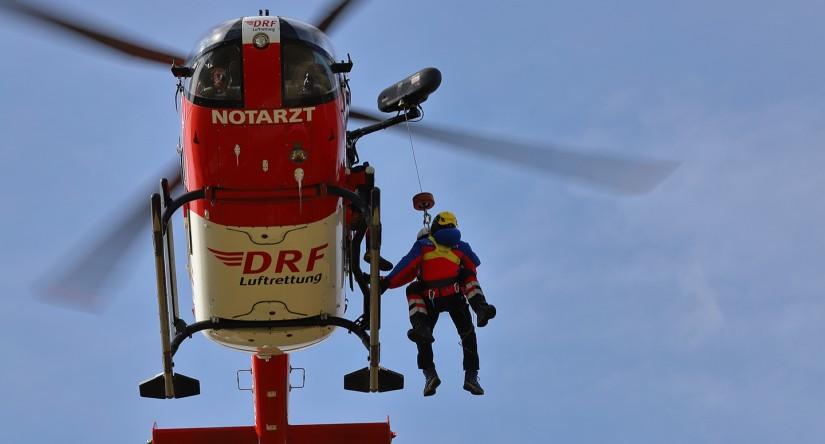 """""""Christoph 27"""" verfügt über eine fest installierte Rettungswinde mit 90 Meter Seillänge"""
