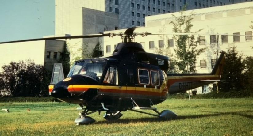 """Von April 1991 bis November 2003 flog """"Christoph München"""" mit einer Maschine des Typs Bell 412"""