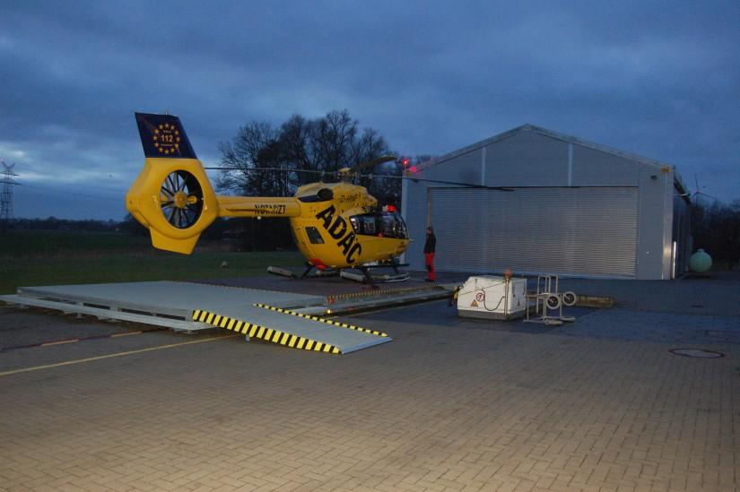 Für die größere H145, die seit Anfang 2015 in Sande zum Einsatz kommt, ...