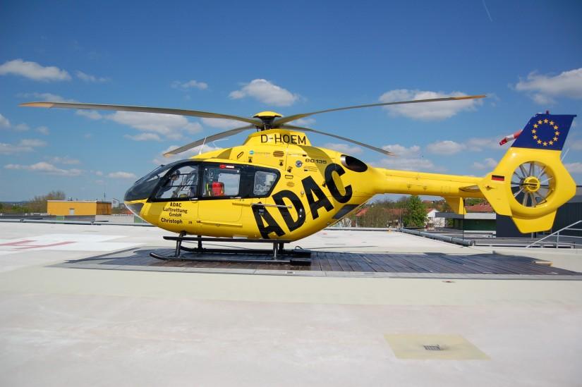 Hier steht die selbe Maschine am selben Tag an der ADAC-Luftrettungsstation am Klinikum Fulda