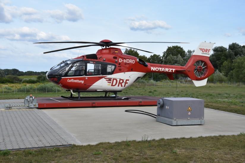 """Jüngste Station der DRF Luftrettung mit EC 135 ist """"Christoph 64"""" in Angermünde"""