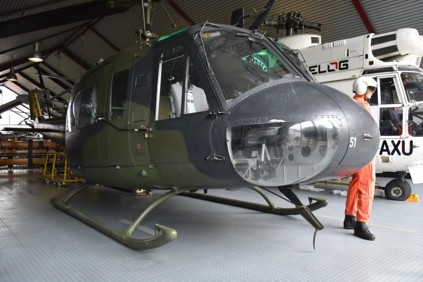 """Die Bell UH-1D """"70+51"""" macht in Bälde Platz für die sonderlackierte """"73+08"""", die zurzeit noch ihre Goodbye-Huey-Tour absolviert"""