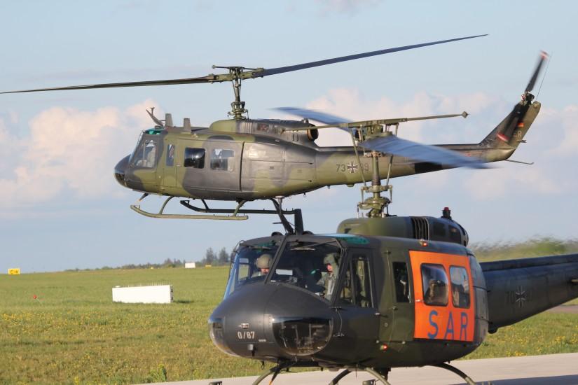 Beim Heer wurde die Bell UH-1D fünf Jahrzehnte lang als Transporthubschrauber und seit der Reform 2013 auch wieder als SAR-Hubschrauber eingesetzt