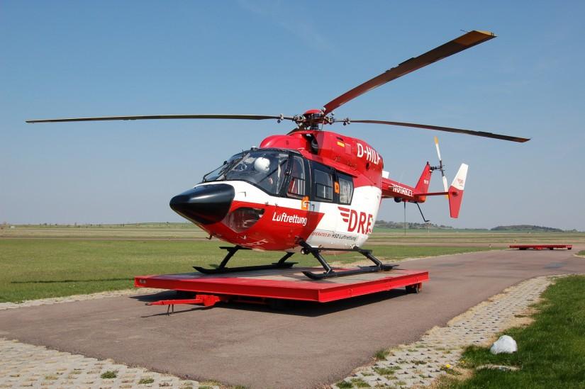 """Ende April 2010 kam eine BK 117 als ITH """"Christoph Sachsen-Anhalt"""" zum Einsatz"""