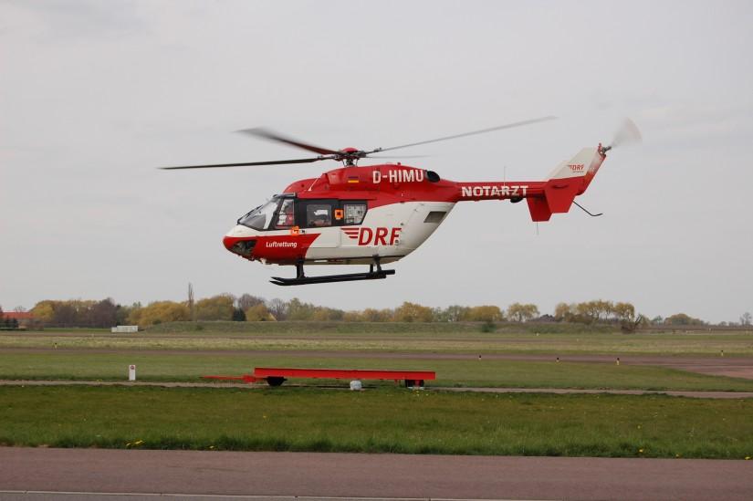 """Zwei Jahre später, Mitte April 2012, flog die BK 117 auch als """"Christoph Halle"""""""