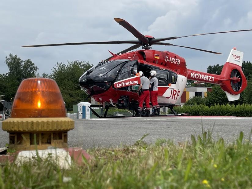 """Um kurz vor zwei macht sich die Crew des ITH """"Christoph Niedersachsen"""" bereit, den Rückflug nach Hannover anzutreten"""