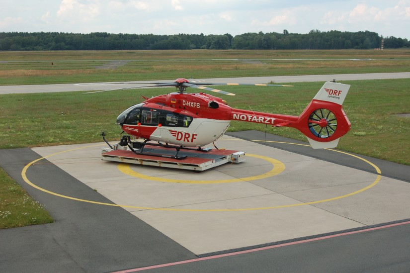 """Am späten Nachmittag des 26. Juni 2021 steht die """"D-HXFB"""" wieder an ihrer Homebase am Hannover Airport und wartet auf ihren nächsten Einsatz"""