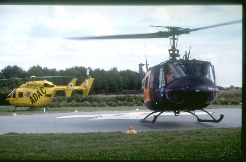 Fliegender Wechsel: Am 10. Juli 1991 übernahm der ADAC in Ingolstadt das Luftrettungskommando von der Bundeswehr