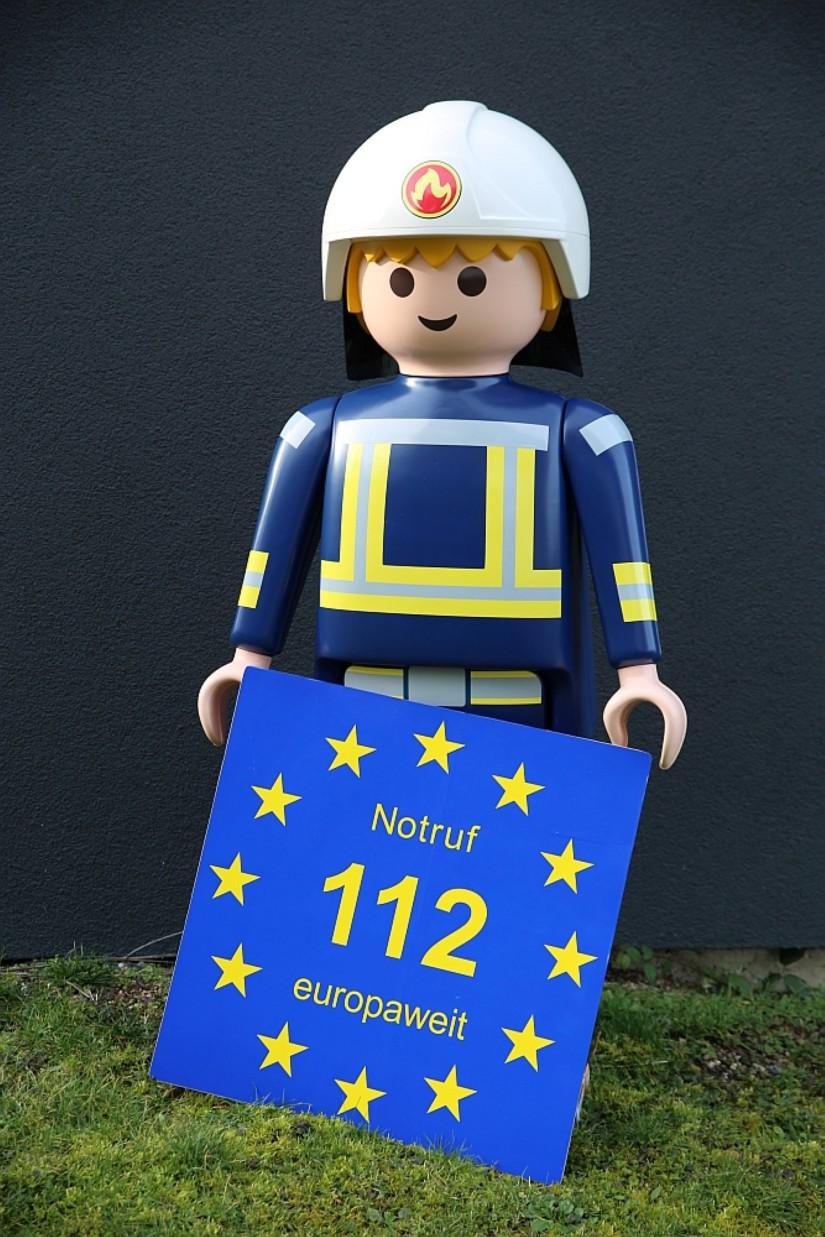 Euronotruf-112-Maskottchen: Vor dreißig Jahren wurde der Euronotruf 112 beschlossen