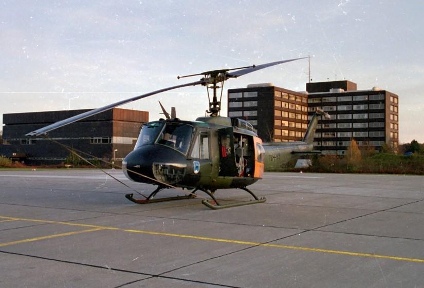 Bis März 2003 flog SAR Ulm 75 (liebevoll Mathilde genannt) mit einer Bell UH 1D von der Station am Ulmer Bundeswehrkrankenhaus.