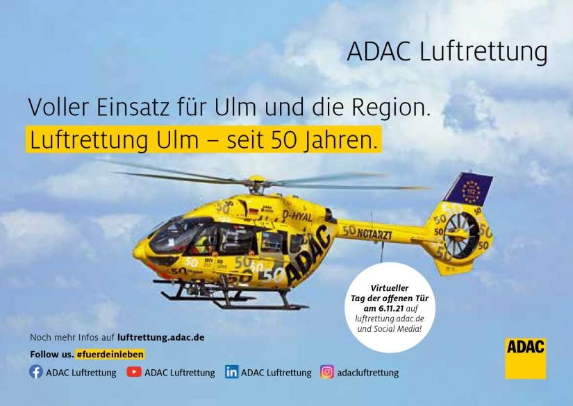 Anlässlich zum virtuellen Tag der offenen Tür am 06. November 2021 bei Christoph 22 wurde ein Flyer mit dessen Jubiläumsmaschine entworfen.