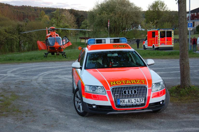 Notarzt-Einsatzfahrzeuge stehen in ganz Deutschland in Bereitschaft