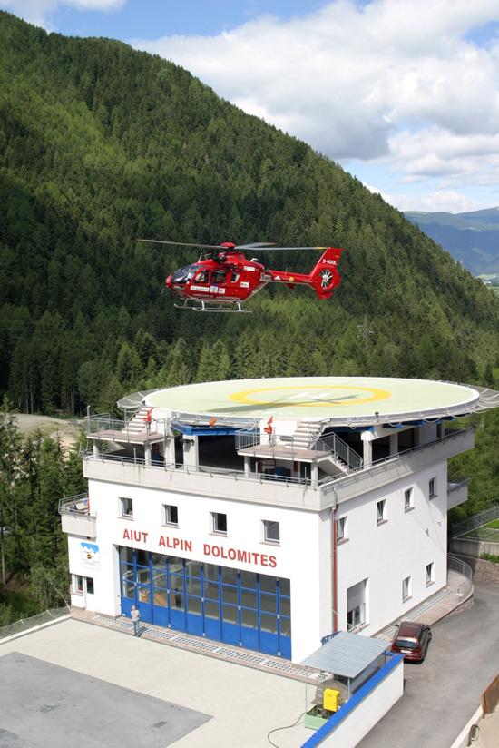 Die neue Basis des AAD in Pontives unterhalb von St. Ulrich im Grödnertal wurde im Mai 2003 in Betrieb genommen