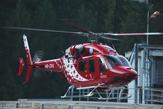 Bereits seit 2012 bei der Air Zermatt im Einsatz: Eine Bell 429