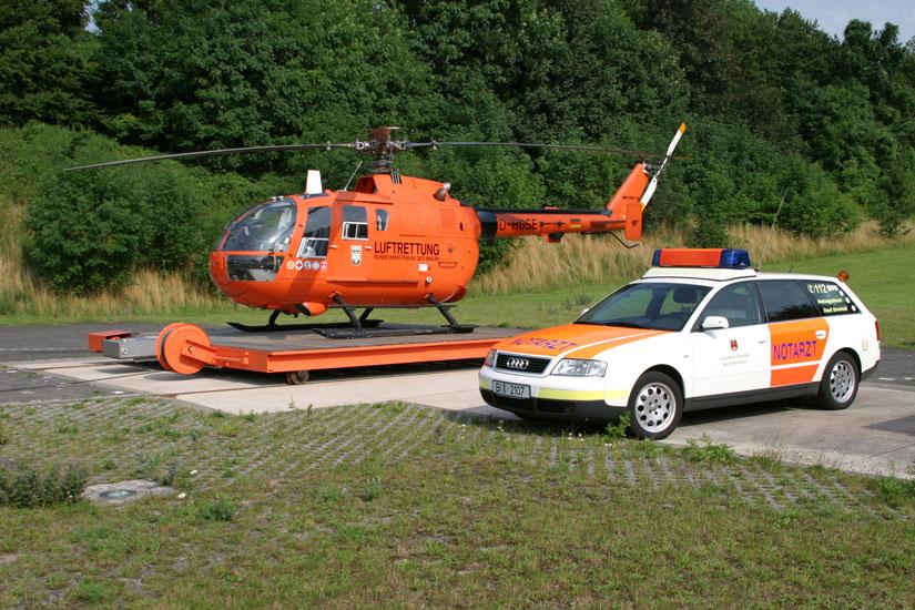 Einsatz im Rettungsdienst, hier RTH Bielefeld (Christoph 13)