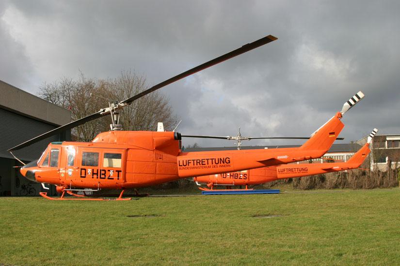 Bis Anfang 2008 im Dienst: Die Bell 212 - dann wurden sie vom Bund verkauft