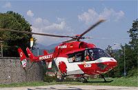 Die DRF ist für das Team DRF international im Einsatz - hier D-HMMM in Italien