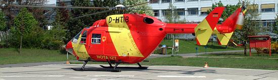 Mittlerweile hat Elbe Helicopter auf das ADAC-Standard-Design umgestellt
