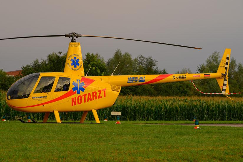 Notarzt-Einsatz-Hubschrauber in Bad Doberan