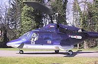 """Charakteristisch für den HSD: Die Bell 222 """"TripleTwo"""" - bis einschließlich 2008 für den HSD in der Luft"""