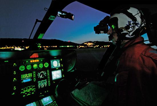 Nachteinsatz mit BIV (Restlichtverstärkerbrille)