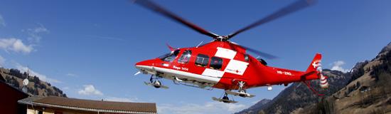 """Rega 10 in der Schweiz, hier eine Agusta Westland AW109SP """"Da Vinci"""""""