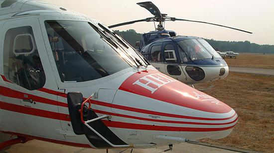 Hubschrauber der Firma Teuto Air
