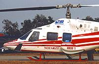 Bell 222 (D-HTEN) am Standort Bielefeld