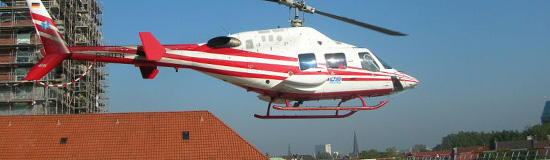 Bell 222 in Bochum im Einsatz für die Teuto Air