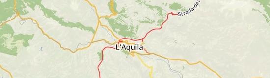 Der Ort L'Aquila nahe der gemeldeten Absturzstelle