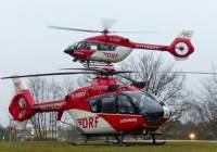 Das Symbolfoto zeigt eine H145 und EC 135 der DRF Luftrettung am Klinikum Nürnberg Süd