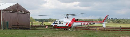 Die Archivaufnahme aus dem September 2010 zeigt die AS 350 B2 mit dem Kenner D-HFJS am AHS-Standort Schwerin-Pinnow